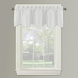 Bella Pintuck Diamond Window Valance in White