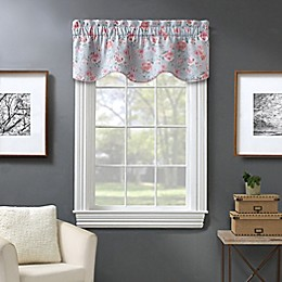 Madison Floral Window Valance in Blue