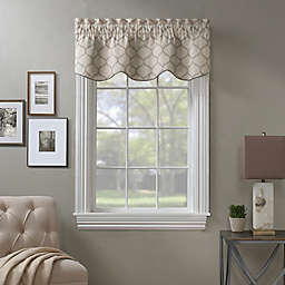 Stockport Ogee Embroidered Window Valance in Natural