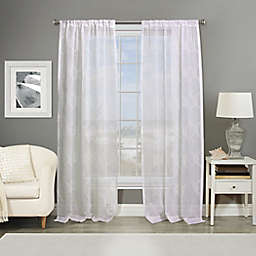 Southport Rod Pocket Embroidered Window Curtain Panel (Single)