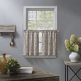 Enchantment Ogee Embroidered 2-Pack Kitchen Window Curtain Tier