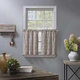 Enchantment Ogee Embroidered 2-Pack Kitchen Window Curtain Tiers