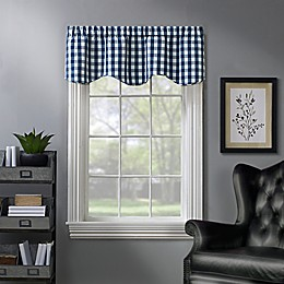 Rylan Buffalo Check Scalloped Window Valance