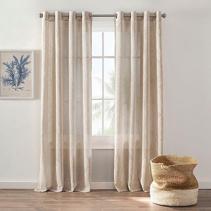 Alternate image 1 for Dominica Grommet Light Filtering Window Curtain Panel (Single)