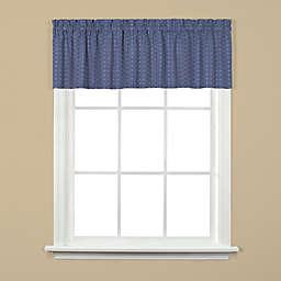 Hopscotch Window Valance in Denim Blue
