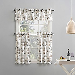 Napa Wine Semi-Sheer Rod Pocket Kitchen Curtain Valance Collection