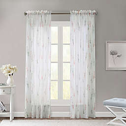Commonwealth Home Fashions Sprigs Sheer Rod Pocket Window Curtain Panel
