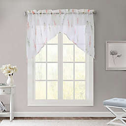 Commonwealth Home Fashions Sprigs Sheer Swag