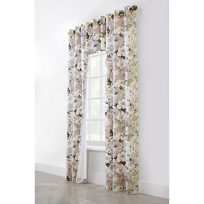 Alternate image 1 for Commonwealth Home Fashions Belladonna Insulated Window Curtain Panel Pair and Valance