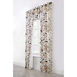 Commonwealth Home Fashions Belladonna 2-Pack 95-Inch Grommet Window Curtain in Blush