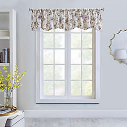 Cabbage Rose Insulated Scalloped Valance
