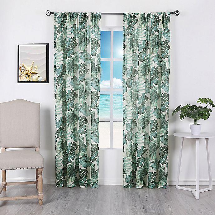 Palm Beach Rod Pocket Room Darkening Window Curtain Panel In Green Bed Bath Beyond