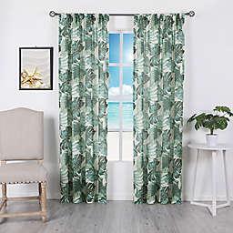 Palm Beach Rod Pocket Room-Darkening Window Curtain Panel in Green