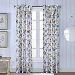 Cabbage Rose 2-Pack Rod Pocket Insulated Window Curtain