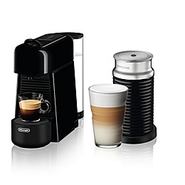 Nespresso® Essenza Plus by De'Longhi Espresso Maker with Aeroccino 3 Frother in Black