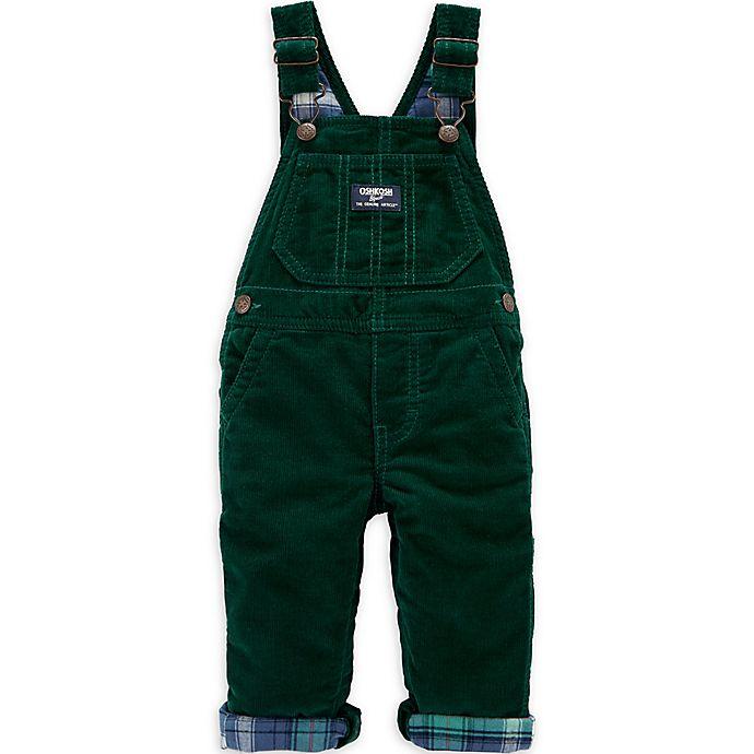 Alternate image 1 for OshKosh B'gosh® Corduroy Overalls in Green