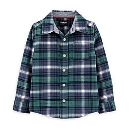 OshKosh B'gosh® Toddler Woven Plaid Shirt in Blue/Green