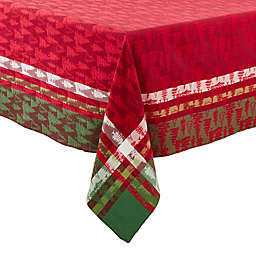 Saro Lifestyle laid Christmas Forêt Tablecloth in Red