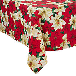Saro Lifestyle Poinsettia Tablecloth