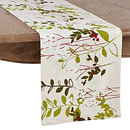 Saro Lifestyle Botanical Holiday Table Linen Collection in Natural