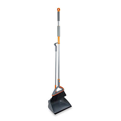 Casabella® Quick n' Easy™ Upright Sweep Set in Graphite/Orange