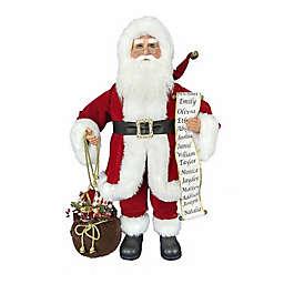 Kringle Klaus 34-Inch Santa and List Figurine