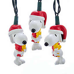 Kurt Adler 10-Light LED Snoopy and Woodstock String Light Set
