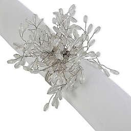DII Beaded Napkin Rings in Silver (Set of 6)