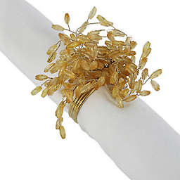 DII Beaded Burst Napkin Rings in Gold (Set of 6)