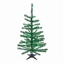 Kurt S. Adler, Inc. 2-Foot Tinsel Pre-Lit Christmas Tree with LED Lights