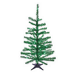 Kurt S. Adler, Inc. 2-Foot Tinsel Pre-Lit Christmas Tree with LED Lights