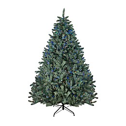 Northlight Colorado Blue Spruce 7.5-Foot Pre-Lit Christmas Tree with LED Multi-Color Lights