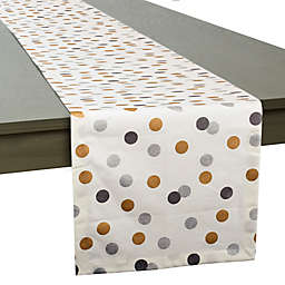 Confetti Dots Table Runner in Ivory Metallic