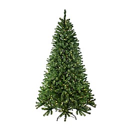 Northlight 7.5-Foot Bassett Pine Pre-Lit Christmas Tree with Dual-Color LED Lights