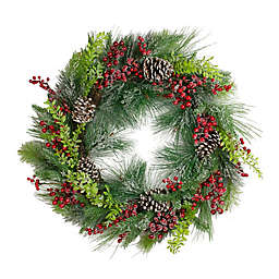 Northlight® 32-Inch Faux Mixed Pine Wreath in Green