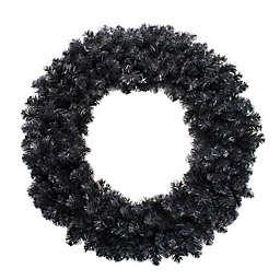 Northlight 36-Inch Colorado Spruce Artificial Wreath in Black