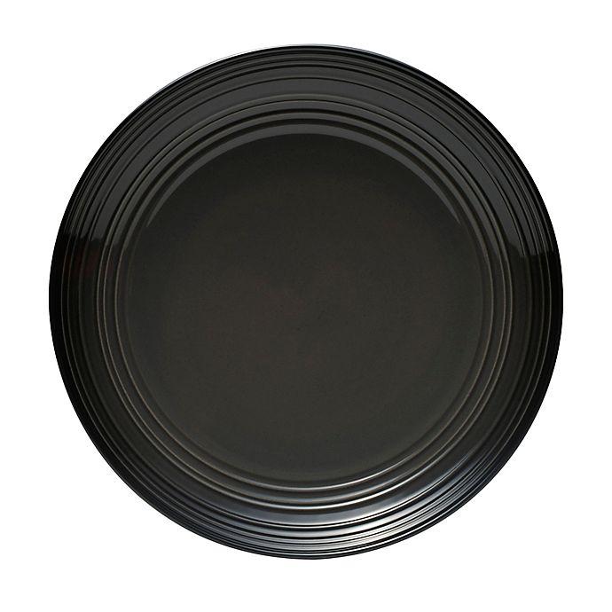 Alternate image 1 for Mikasa® Swirl Ombre Coupe Dinner Plate in Graphite