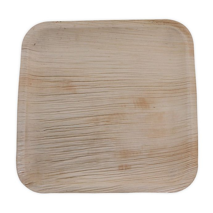 Alternate image 1 for Jodhpüri™ 25-Count 10-Inch Square Areca Leaf Plates