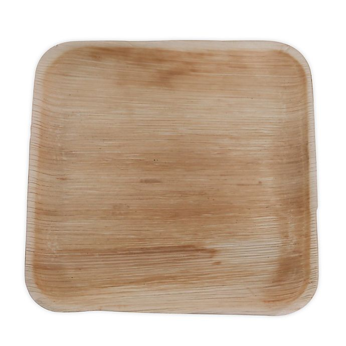 Alternate image 1 for Jodhpüri™ 25-Count 8-Inch Square Areca Leaf Plates