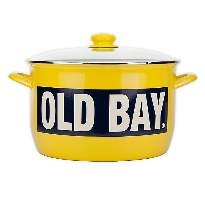 Alternate image 1 for Golden Rabbit® Old Bay 18 qt. Stock Pot in Yellow