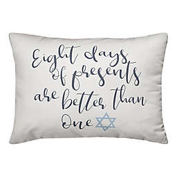 Designs Direct Eight Days of Presents 14-Inch x 20-Inch Throw Pillow in White