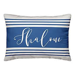 Designs Direct Shalom Stripes 14-Inch x 20-Inch Throw Pillow in Blue