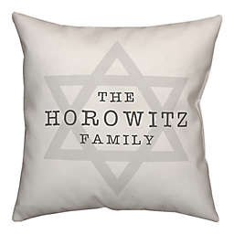 Designs Direct Star of David 18-Inch Square Throw Pillow in White