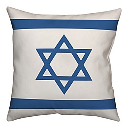 Designs Direct Star of David 18-Inch Square Throw Pillow in Blue