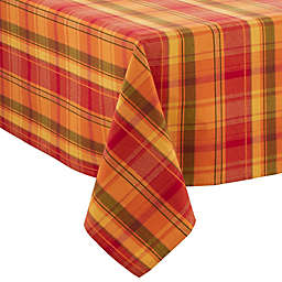 Saro Lifestyle Harvest Table Linens 160-Inch x 65-Inch Oblong Tablecloth in Terracotta
