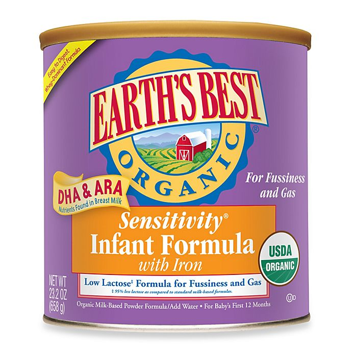 Alternate image 1 for Earth's Best® Organic Sensitivity® Infant Formula With DHA & ARA and Iron (23 Ounces)