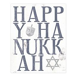 Happy Hanukkah 8x10 Tabletop Canvas