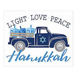 Hanukkah Truck 8x10 Tabletop Canvas