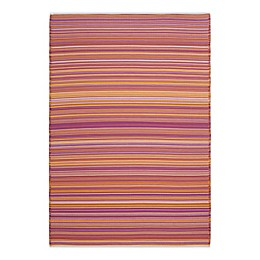 Bali Fuschia 6' x 9' Indoor/Outdoor Patio Mat in Fuschia
