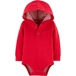 OsghKosh B'gosh® Hooded Bodysuit in Red